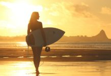 vrouw strand