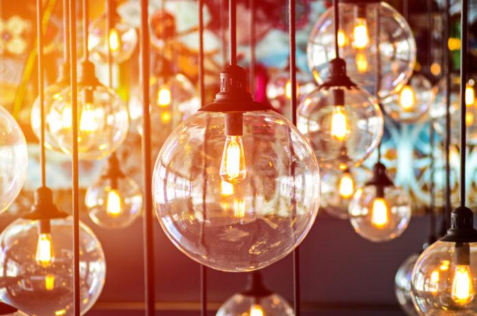 veel lampen als verlichting